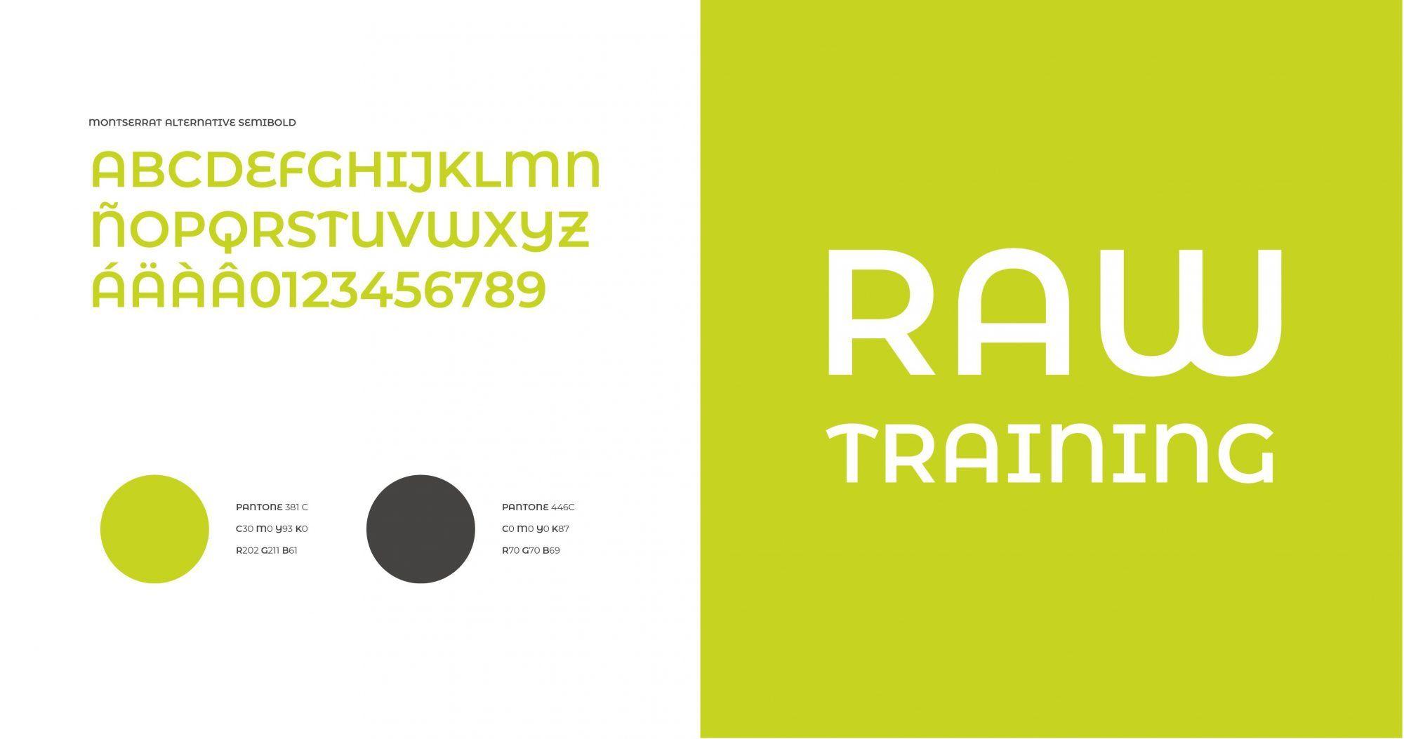Creación de logo para entrenamiento Raw Training