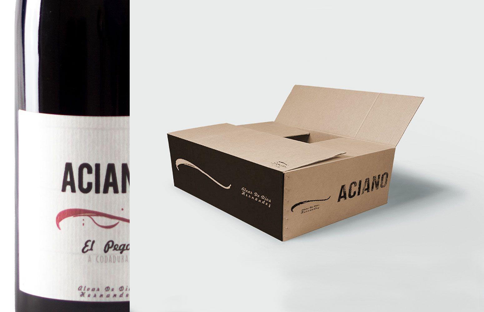 Diseño de cajas de vino Alvar de Dios