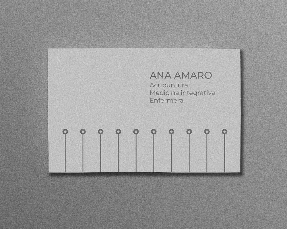 diseño de tarjeta de visita para acupuntura