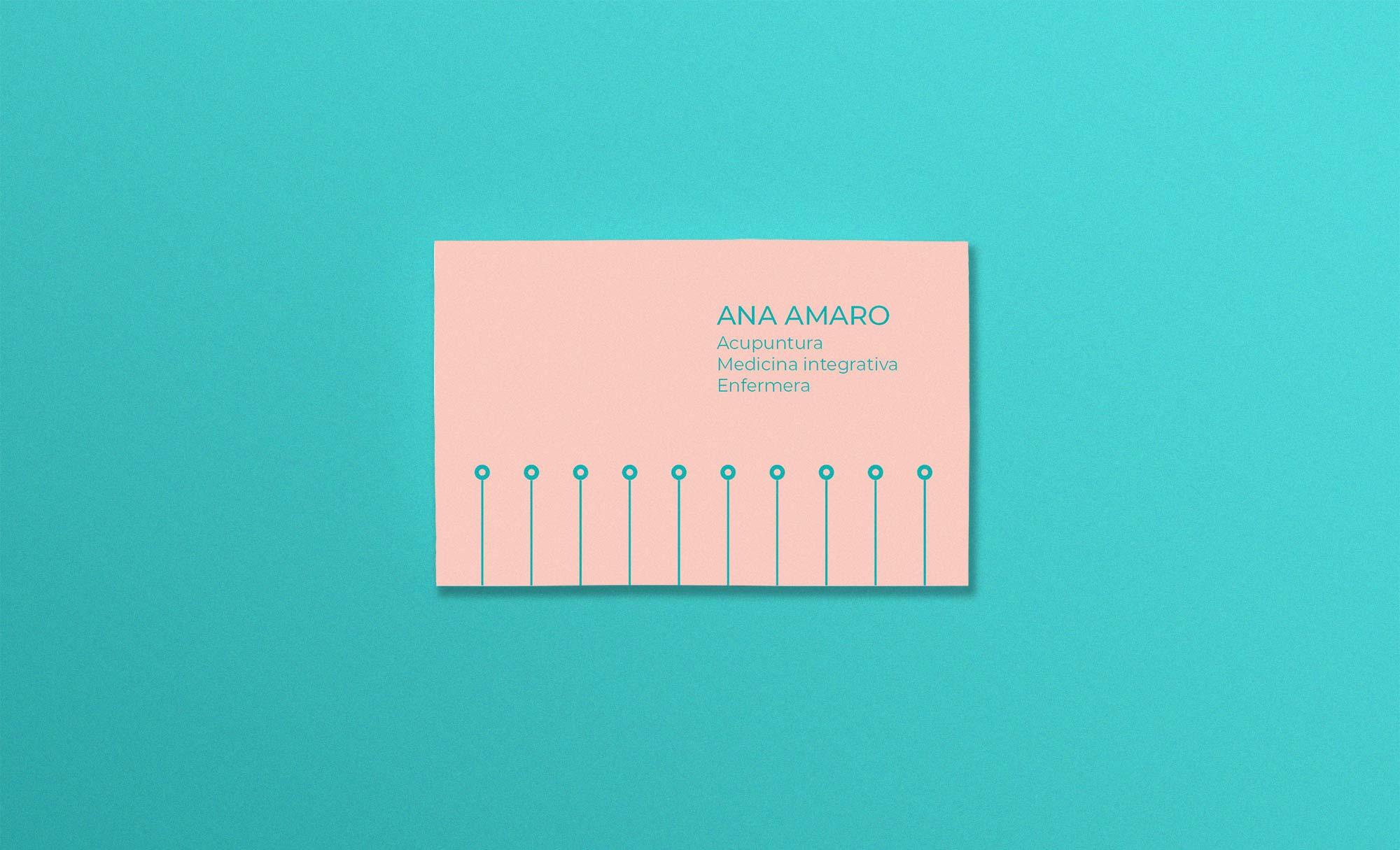 Diseño de tarjeta de visita de acupuntura Madrid