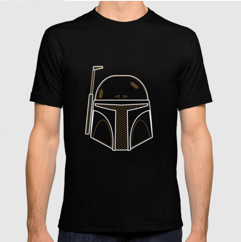 Camisetas minimalistas basadas en personajes de Star Wars