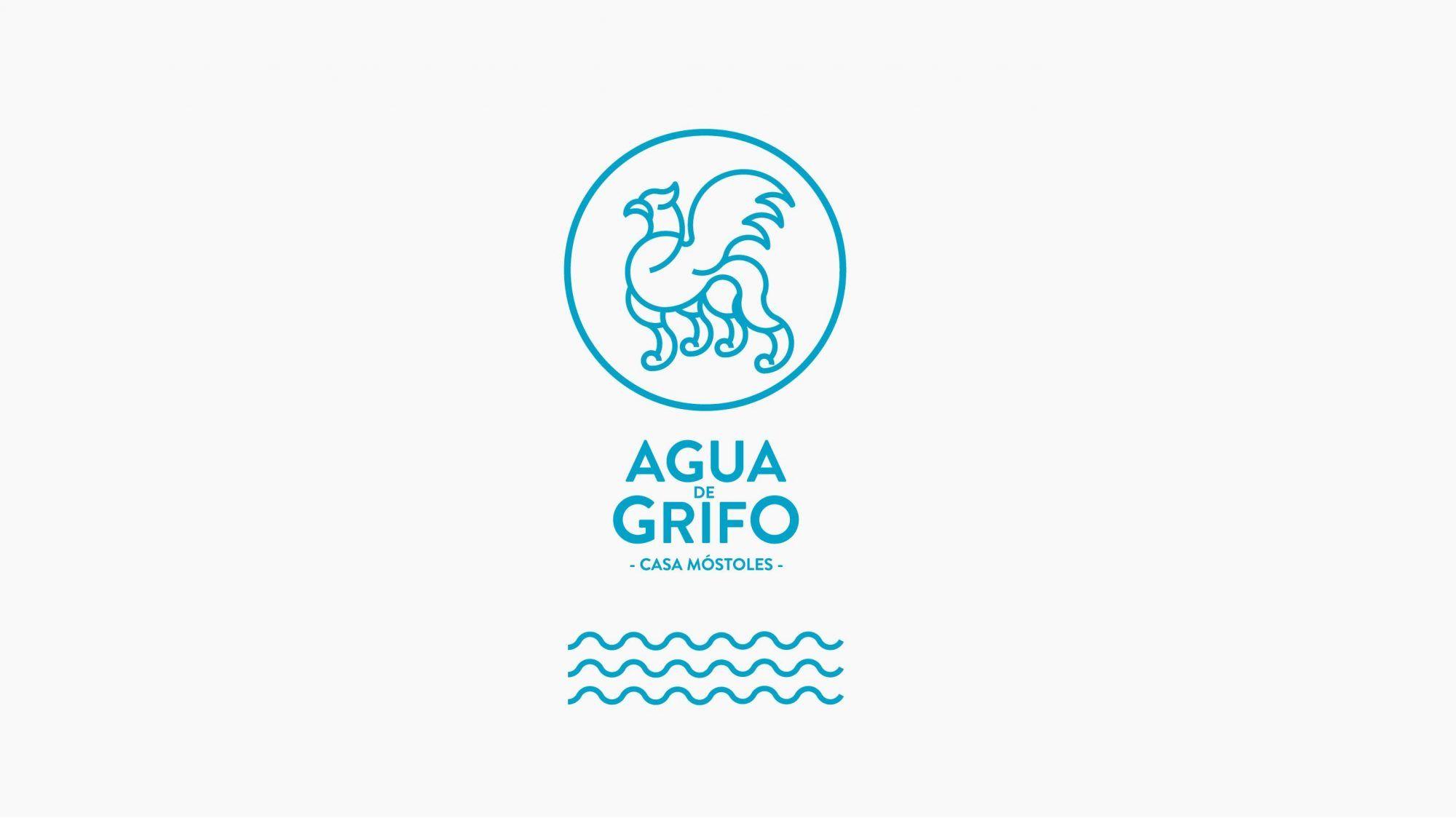 diseño etiqueta botella agua de grifo