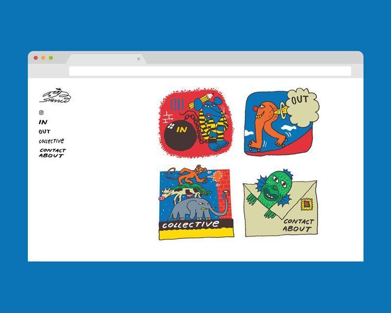 web para el artista Sr Mu